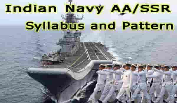 Latest Navy AA SSR Syllabus and Pattern