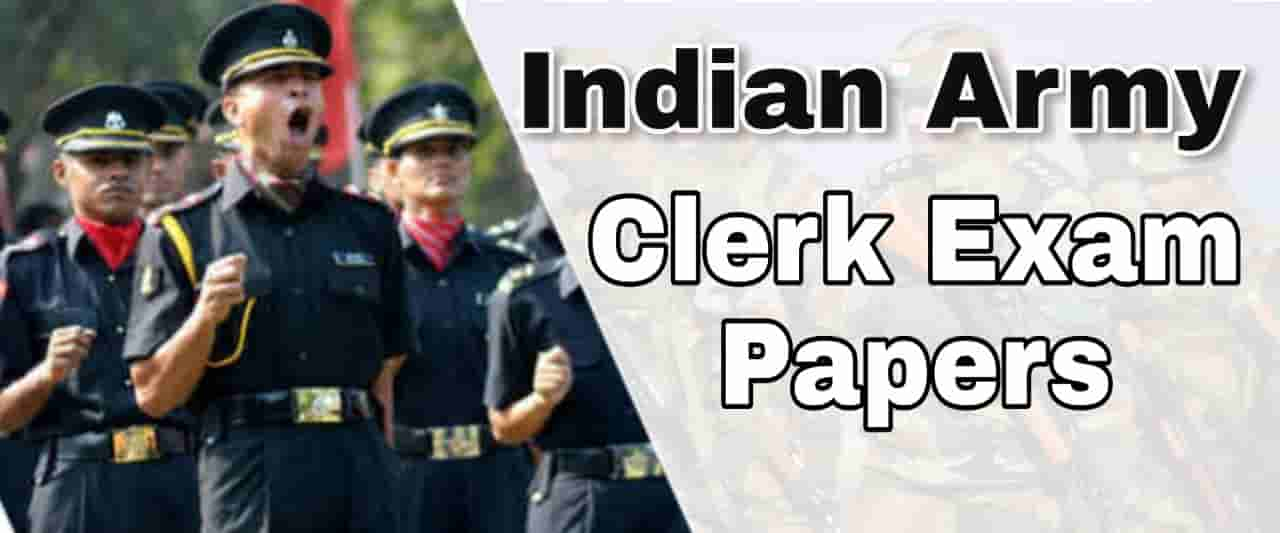 Indian Army Clerk Previous Exam Paper-2
