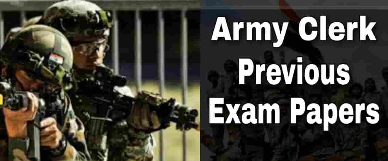 Indian Army Clerk Previous Exam Paper-4