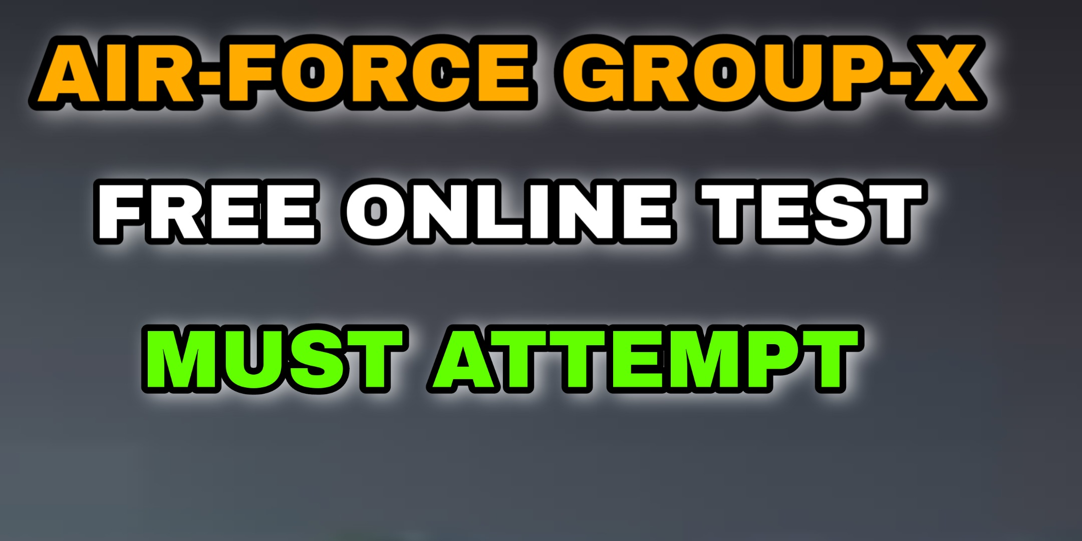 Airforce Group-X Free Online Mock Test