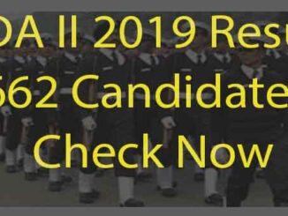 UPSC NDA II 2019 Result Out Check Now