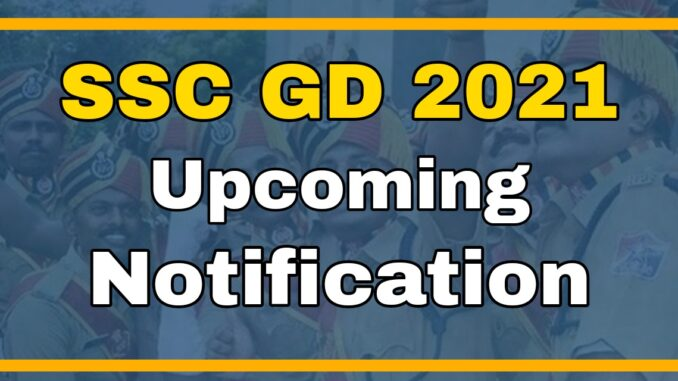 SSC GD Nearly 70000 Vacancy Constable Notification