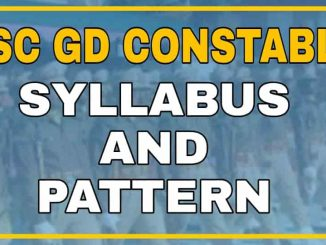 SSC GD New Syllabus and Exam Pattern For 2021