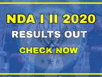 UPSC NDA I and II 2020 Exam Result Released