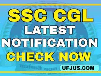 SSC CGL 2020-2021 Notification Full Details