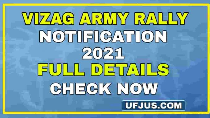 Vizag ARO Army Recruitment Rally 2021 Full Details