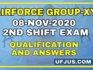 8th Nov 2020 2nd Shift Airforce Group-XY Exam