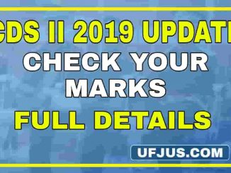 CDS II 2019 Examination Marks Check Now