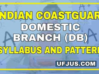 Indian Coastguard Navik DB latest Syllabus and Pattern