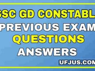 SSC GD GK Previous Exam Questions and Answers