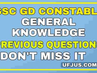 SSC GD General Knowledge Previous Papers Part-2