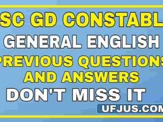 SSC GD English Previous Exam Paper Test-2