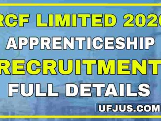 RCF Limited Apprentice Recruitment 2020 Full Details
