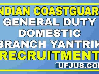 Indian Coastguard GD DB Yantrik Notification Full Details