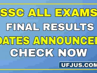 SSC Declared All Examination Results Dates