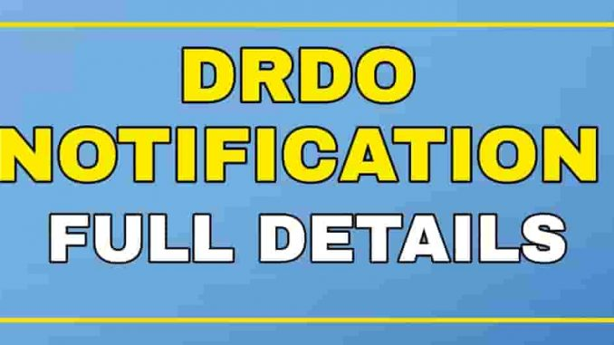 DRDO Apprentice Recruitment Notification Full Details