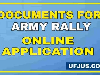 Documents Required For Army Online Application