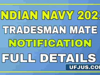 Navy Tradesman Mate 1159 Notification 2021