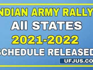 Indian Army All States Rallys Schedule 2021-2022