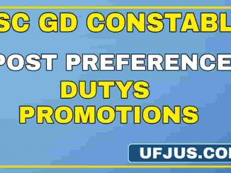 SSC GD Post Preference Opportunities Full Details