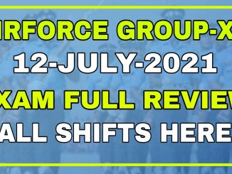 Airforce Group-XY 01/2022 12 Date All Shifts Exam Review