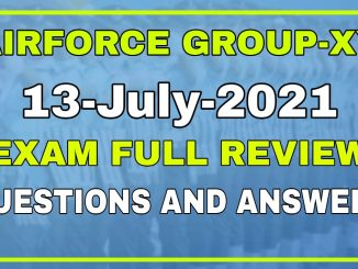 Airforce Group-XY 01/2022 13 Date All Shifts Exam Review