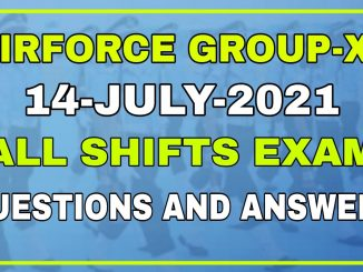 Airforce Group-XY 01/2022 14 Date All Shifts Exam Review