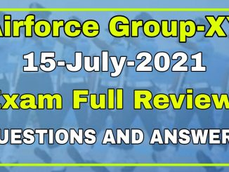 Airforce Group-XY 01/2022 15 Date All Shifts Exam Review
