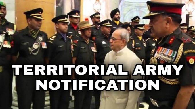 Territorial Army Officer Notification 2021 Full Details